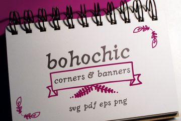 20 Boho-Chic Corners Vector Pack