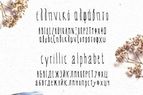 Evey Handcrafted Multilingual Font   Latin / Greek / Cyrillic