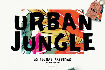 Seamless Patterns 20 x Urban Jungle Vol 1