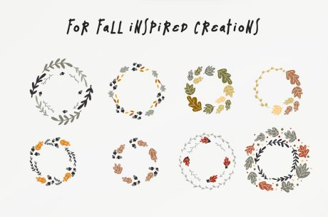 Fall Wreaths Vector Pack-4