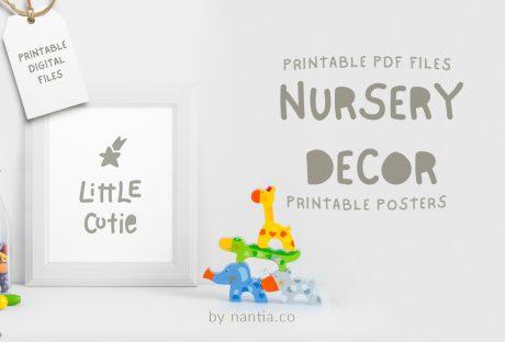 Little Cutie, nursery printable!